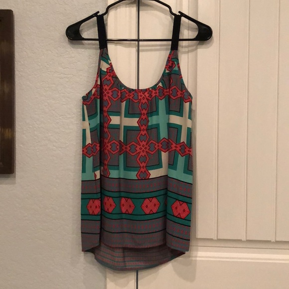 Pixley Tops - Printed tank with black strap